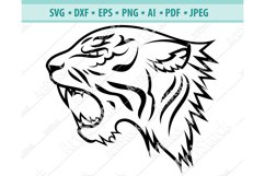 Tiger Face SVG, Head of a tiger clipart, Cats Dxf, Png, Eps Product Image 1