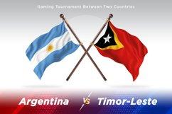 Argentina vs Timor-Leste Two Flagsc Product Image 1