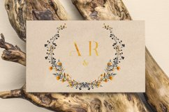 6 Golden Noir Wedding Monograms IX Product Image 6
