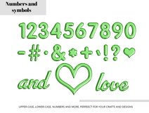 Green Foil Balloon Letters Numbers & Symbols Clipart Product Image 2