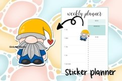 Gnome clipart, gnome png, sublimation, sticker planner Product Image 5
