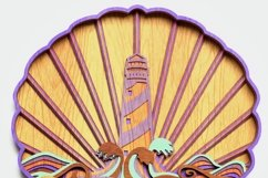 Multilayer Lighthouse Mandala, Vector file for cutting Product Image 4
