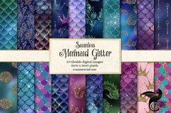 Mermaid Glitter Digital Paper Product Image 1
