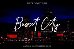 Busset City Excellent Handwritten Product Image 1