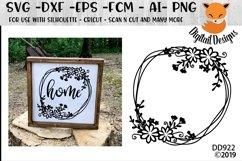 Doodle Flower Monogram Frame SVG Product Image 1