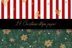 Christmas stripe digital paper pattern Product Image 2