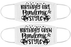 Face mask design SVG Silhouette Cricut birthday girl crew Product Image 1