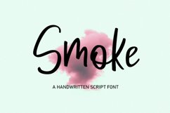 Smoke | Handwritten Script Font Product Image 1