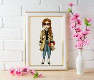Leopard Print Divas Clipart, Fashion Girls Illustrations, PN Product Image 2