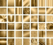 42 Antique Gold Metallic Texture Papers Product Image 6