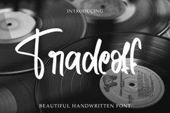 Web Font Tradeoff - Handwritten Font Product Image 1