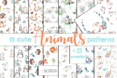 Cute forest Animals. Patterns + Wreaths Product Image 1