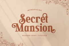 Secret Mansion - Modern Elegant Serif Product Image 1