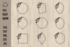 Geometric Frames SVG Bundle, Floral frames SVG Product Image 1