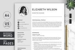 Creative Resume Template, CV Template, Resume Template Word Product Image 2