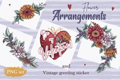 Romantic Gnomes at Valentine's Day. Hand drawing clipart. Product Image 4