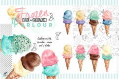 Watercolour Ice creams and Girl Graphics Product Image 4