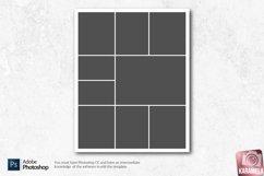 8x10 Photo Collage Photoshop Templates Product Image 5