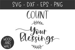 Count Your Blessings SVG | Autumn Cut File Product Image 2