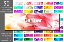50 Polygonal Banner Design Backgrounds Product Image 1
