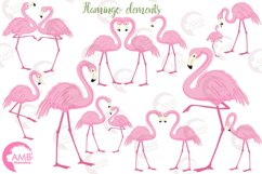 Flamingos clipart mega pack, graphics, illustrations AMB-1047 Product Image 5