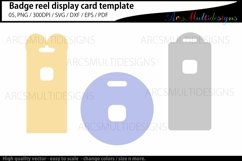Badge reel display card template / retractable Product Image 3