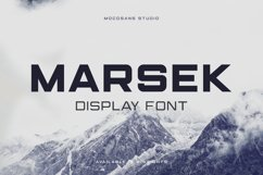 (NEW) Marsek - A Solid Display Font Product Image 1