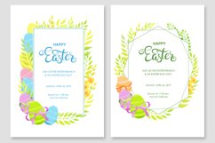 Happy Easter invitations and cards vector set Product Image 5