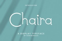 Web Font Chaira Product Image 1