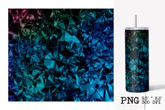 Skinny tumbler sublimation silver foil crush template Product Image 4