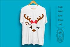 Christmas SVG - Cute Reindeers SVG Chris Bundle Product Image 6