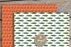 Fishing Digital Papers and clipart SET Product Image 3