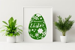 Happy Easter SVG. Easter Papercut Template.Egg Paper Cut SVG Product Image 3