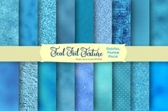 Teal Foil and Glitter Textures Digital Paper Product Image 1