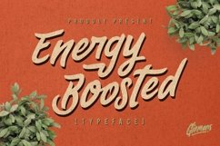 Web Font Energy Boosted Typeface Product Image 1