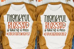 Thankful Blessed And Kind Of A Mess Bundle, Teacher Svg Product Image 2