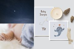 Zodiac signs clipart. Watercolor astrology clip art for kids Product Image 6