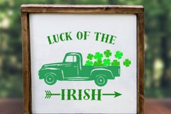 truck svg, clover svg, st patrick's day svg, luck, irish Product Image 3