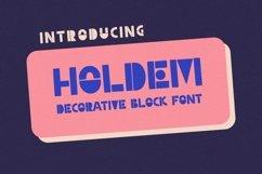 Holdem - Display Block Font Product Image 1