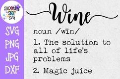 Wine Definition SVG - Funny Wine Definition - Wine Lover SVG Product Image 1