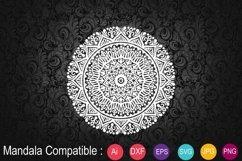Mandala White with Eps 10, SVG Product Image 1