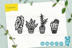 Plants svg bundle, House plants svg, succulents cut file Product Image 3