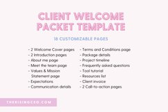 Client Welcome Packet Canva Template | Client Onboarding Product Image 3