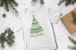 Merry Christmas card with Christmas tree SVG.PNG.JPG.EPS10 Product Image 4
