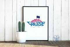 Alaska cruise svg cut file, Lettering in cruise ship shape Product Image 3