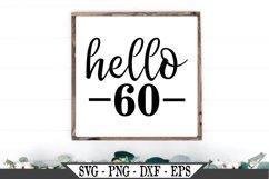 Hello 60 Birthday SVG Product Image 1