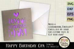 Happy Birthday Opa Card SVG - Birthday Card Cutting File Product Image 3