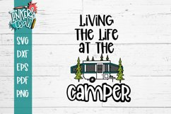 Living Life At the Camper Pop Up SVG Product Image 2