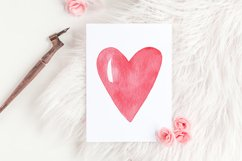 Valentines Day cliparts, pink and gold love graphics Product Image 3