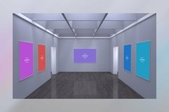 Art Gallery Frames Mockup with different wall Product Image 1